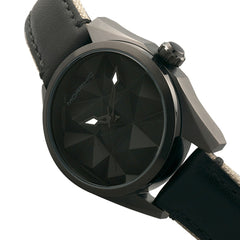Morphic M59 Series Leather-Overlaid Canvas-Band Watch - Black