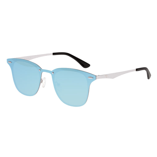 Sixty One Infinity Polarized Sunglasses - Silver/Light Blue