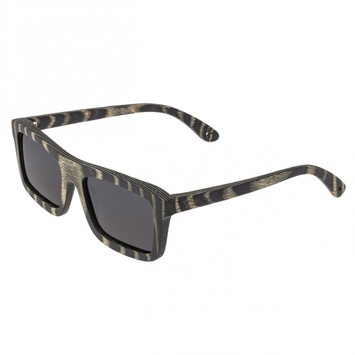 Spectrum Ward Wood Polarized Sunglasses - Black Stripe/Black
