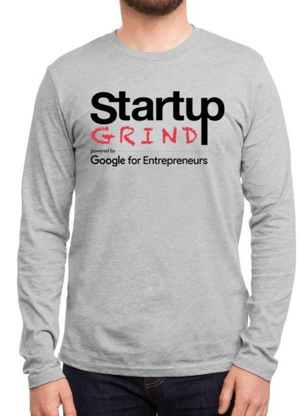 Startup Grind Grey Long Sleeves Round Neck