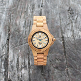 NALU SMALL - Carbonised Bamboo Watch
