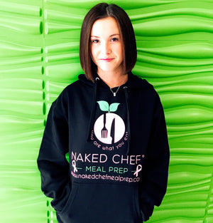 Breast Cancer Awareness Hoodie - Black - Naked Chef Meal Prep
