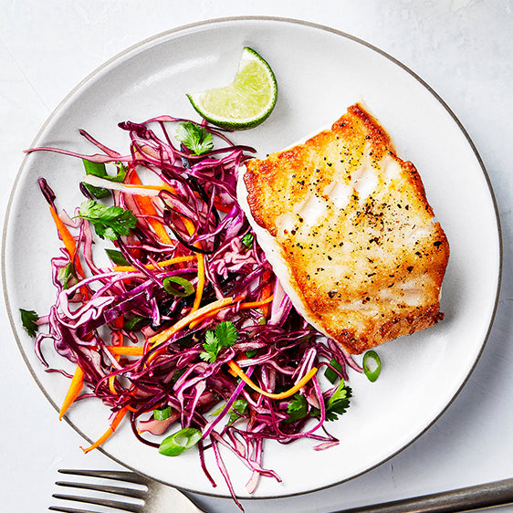 Roasted Cod & Carrot Salad