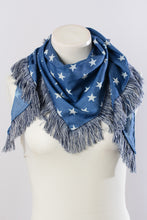 Load image into Gallery viewer, Boho Star Bandana Style Scarf