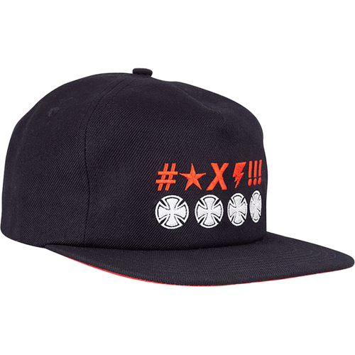 Independent ANTE CROSSES Snapback Hat BLACK