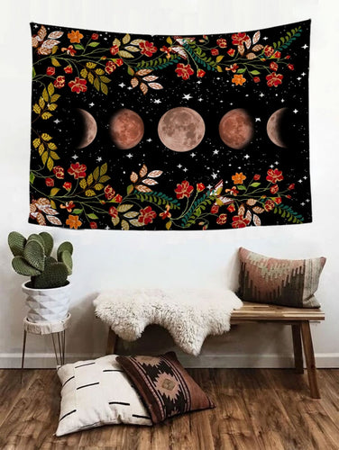 Moon & Flowers Tapestry