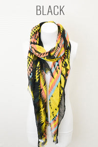 Tribal Multicolor Print Scarf