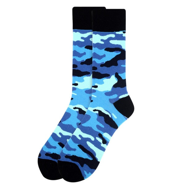 Men's Blue Camo Novelty Socks