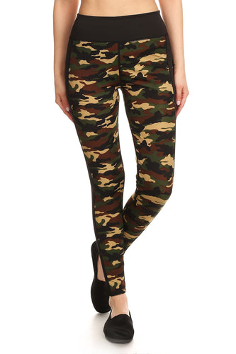 Camo High Waisted Active Leggings - LG/XL