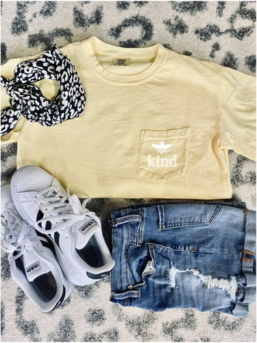 Yellow Bee Kind Tee Shirt
