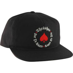 Thrasher Oath Black and Red Snapback Hat
