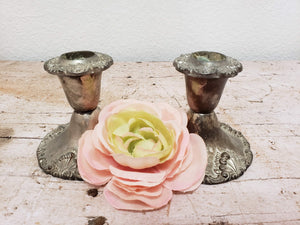 Godinger Silver Plated Candle Holders
