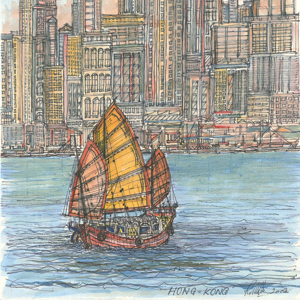 香港紀念系列 香港灣風情 by Roy Milburn (Hong Kong Souvenir Series - Water Bay by Roy Milburnl)