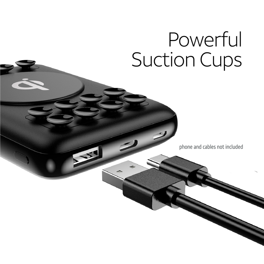 10,000 mAh Wireless Power Bank with Qi®-Charging Technology