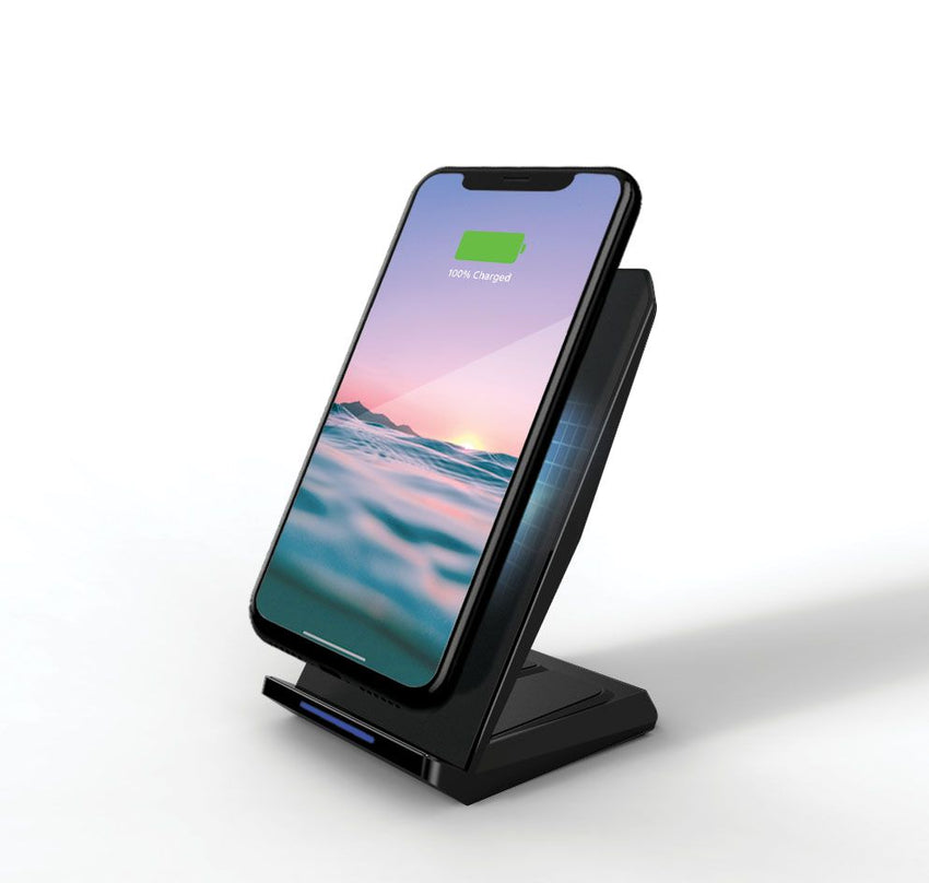 15W Wireless Charging Stand with QC 3.0 Rapid Charger