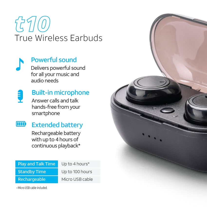 True Wireless Mini Bluetooth® Stereo Earbuds