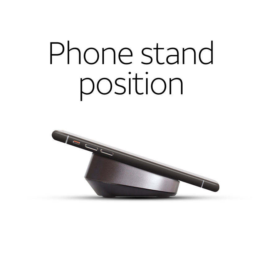 WC100 phone stand position