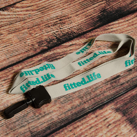 Teal/Grey Original Logo Lanyard