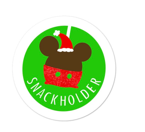 Snack Holder Mickey Apple Sticker