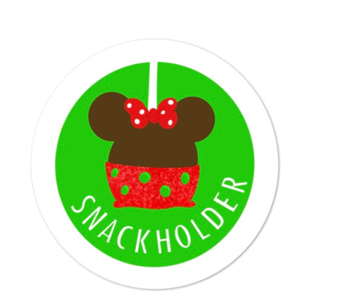 Snack Holder Minnie Apple Sticker