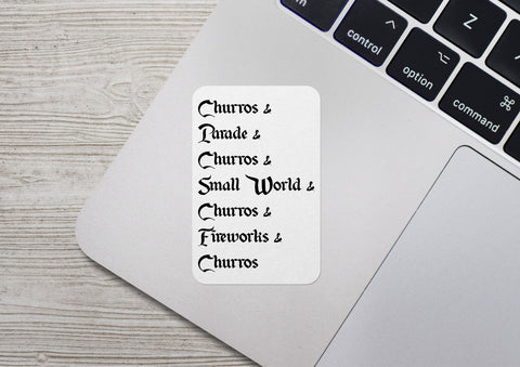 Churro List Sticker