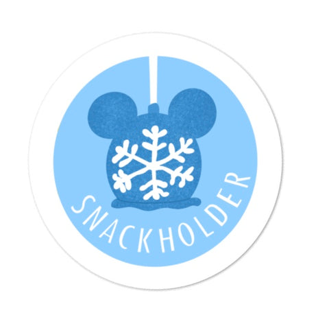 Snack Holder Winter Apple Sticker