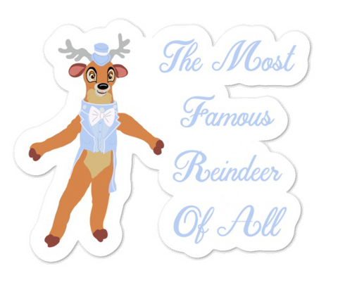 The Most Famous Reindeer Sticker
