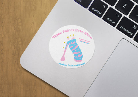 Three Fairies Bake Shop Sticker