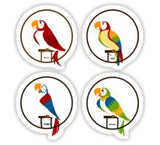 Tiki Birds Stickers