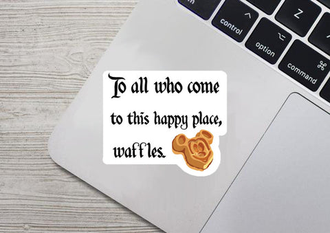 Welcome Waffles Sticker