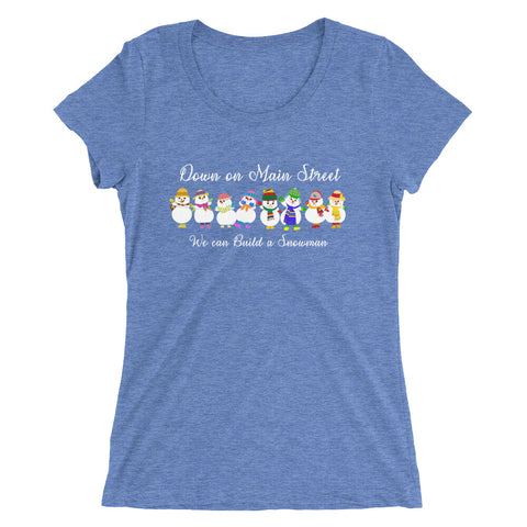Build a Snowman - Women's Scoop Neck