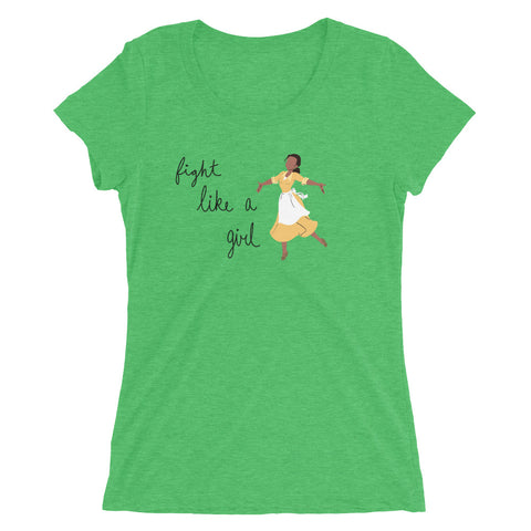 Fight Like Tiana - Women's Scoop Neck