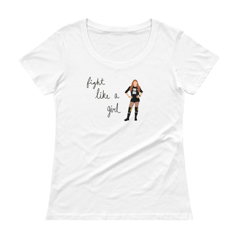 Fight Like Becky - Women's Scoop Neck