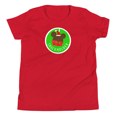 Snack Holder - Santa Mickey - Youth Tee