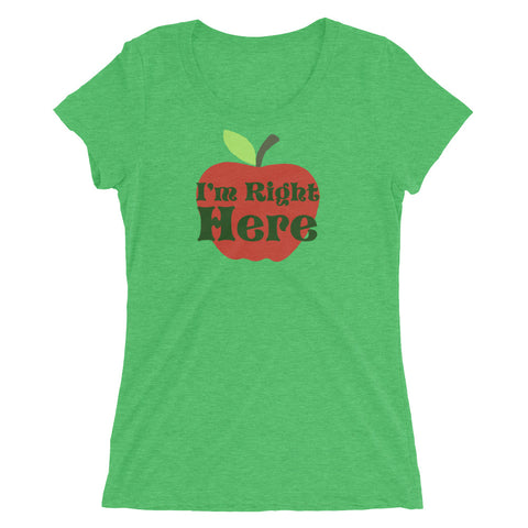 I'm Right Here - Women's Scoop Neck