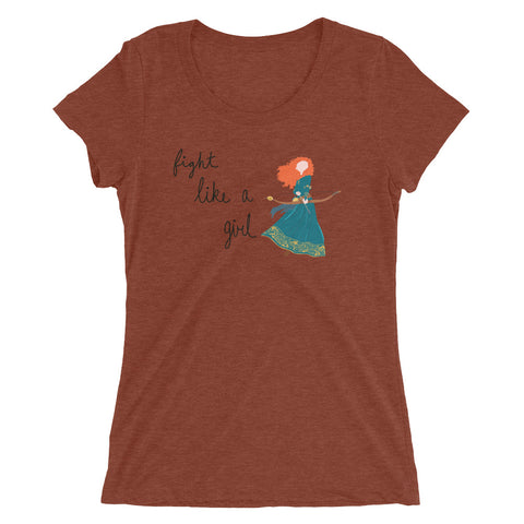 Fight Like Merida - Women's Scoop Neck