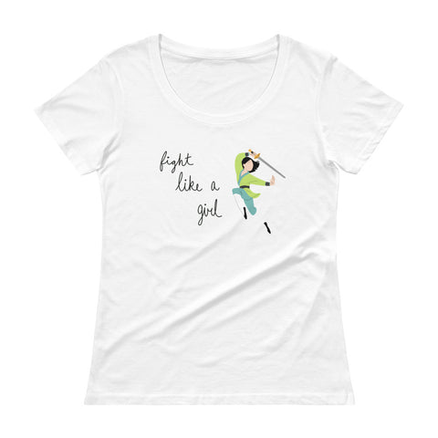 Fight Like Mulan - Women's Scoop Neck