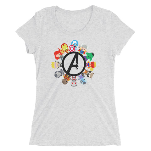 Small World Avengers - Women's Scoop Neck