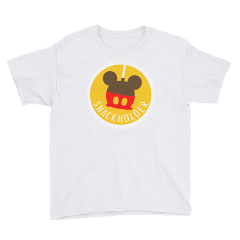 Snack Holder - Mickey Caramel Apple - Youth Tee