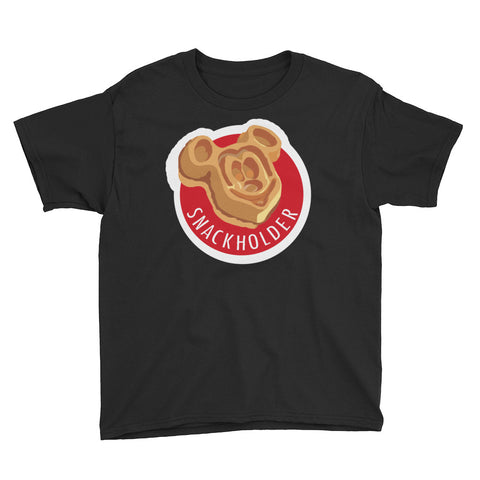Snack Holder - Mickey Waffle - Youth Tee