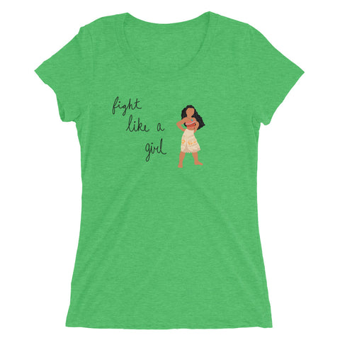 Fight Like Moana - Women's Scoop Neck