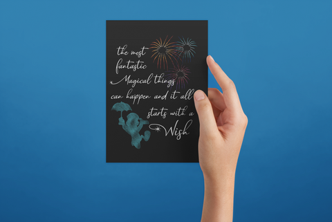 Starts with a Wish - Post Card