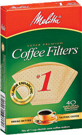 Melitta Cone Filters: Natural Brown - McNulty's Tea & Coffee Co., Inc. - 1