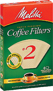 Melitta Cone Filters: Natural Brown - McNulty's Tea & Coffee Co., Inc. - 2