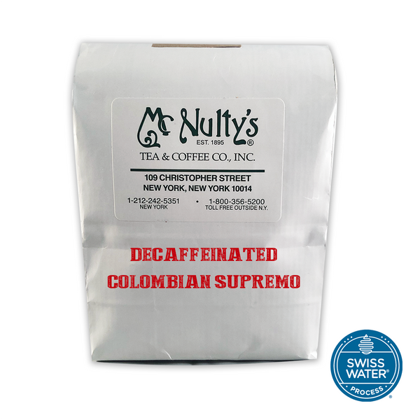 Coffee: Decaffeinated Colombian Supremo