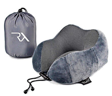 Load image into Gallery viewer, Raha Memory Foam Travel Neck Pillow | Eclipse Grey