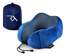 Load image into Gallery viewer, Raha Memory Foam Travel Neck Pillow | Midnight Blue