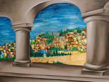 Load image into Gallery viewer, Sukkah Banner - View of Jerusalem