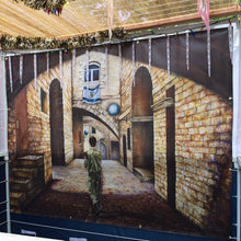Load image into Gallery viewer, Sukkah Banner - Soldier in the Old City