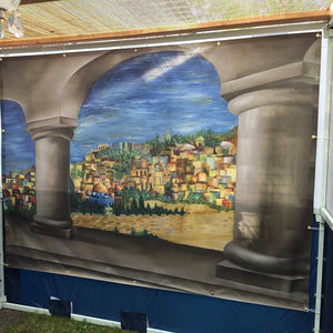 Sukkah Banner - View of Jerusalem